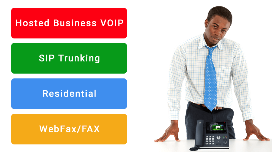 Hosted PBX, SIP Trunking, Residential and WebFax/FAX